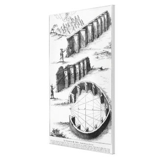 Echo Formation, book by Athanasius Kircher Gallery Wrap Canvas