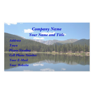 Echo Lake Mt Evans Colorado Pack Of Standard Business Cards