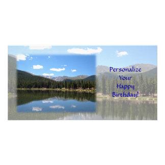 Echo Lake Mt Evans Colorado Personalised Photo Card