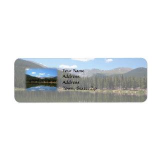 Echo Lake Mt Evans Colorado Return Address Label
