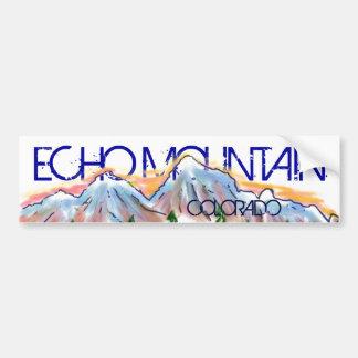 Echo Mountain Colorado artistic mountain sticker Bumper Sticker