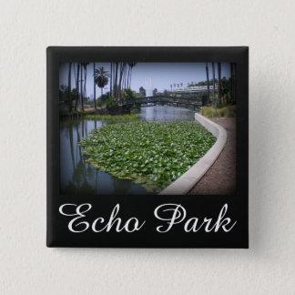Echo Park Lake in Los Angeles, California 15 Cm Square Badge