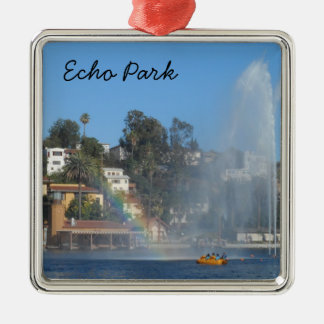 Echo Park- Los Angeles Christmas Ornament