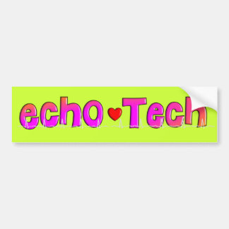 Echo Tech (Cardiac Echo Tech) Gifts Bumper Sticker