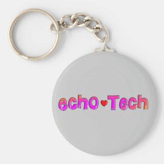 Echo Tech (Cardiac Echo Tech) Gifts Basic Round Button Key Ring