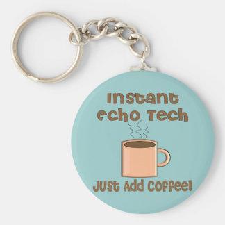 Echo Tech Gifts (Cardiac Echo Tech) Basic Round Button Key Ring