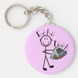 Echo Tech Gifts (Cardiac Echo Technician) Basic Round Button Key Ring