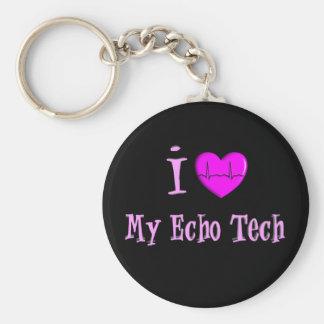 "Echo Tech Gifts ""I Love My Echo Tech"" Basic Round Button Key Ring"