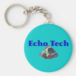 Echo Technician Gifts (Cardiac Echo Tech) Basic Round Button Key Ring