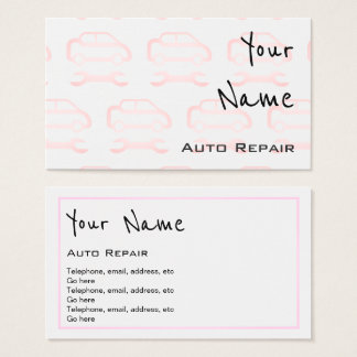"""Echoes"" Auto Repair Business Cards"