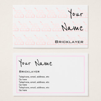"""Echoes"" Bricklayer Business Cards"