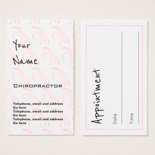 """""""Echoes"""" Chiropractor Appointment Cards"""