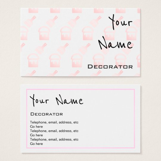 """""""Echoes"""" Decorator Business Cards"""