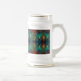Echoes From the Depths Abstract Digital Art Design Coffee Mugs