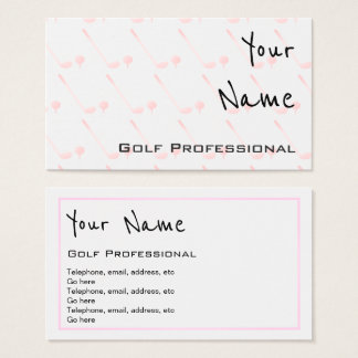 """Echoes"" Golf Professional Business Cards"