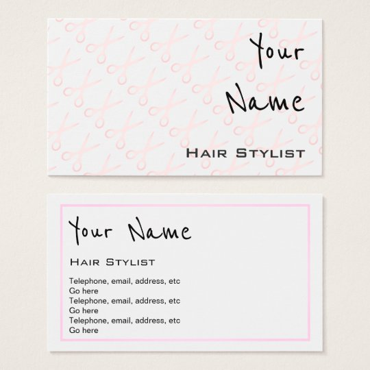 """""""Echoes"""" Hair Stylist Business Cards"""