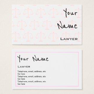 """Echoes"" Lawyer Business Cards"