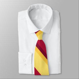 Echoes of Sunset University Stripe Tie