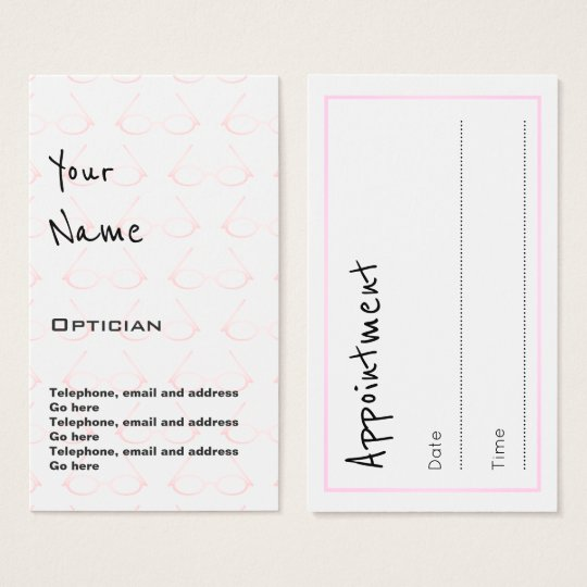 """""""Echoes"""" Optician Appointment Cards"""