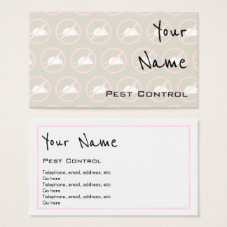 """""""Echoes"""" Pest Control Business Cards"""