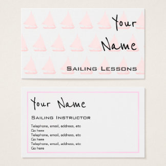 """Echoes"" Sailing Business Cards"