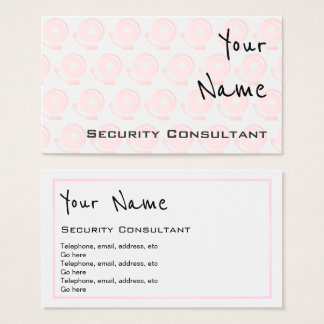 """""""Echoes"""" Security Consultant Business Cards"""