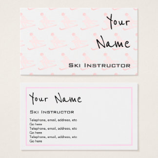 """""""Echoes"""" Ski Instructor Business Cards"""