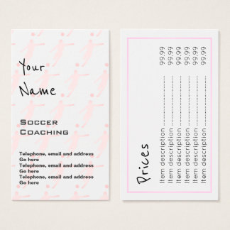 """Echoes"" Soccer Coaching Price Cards"