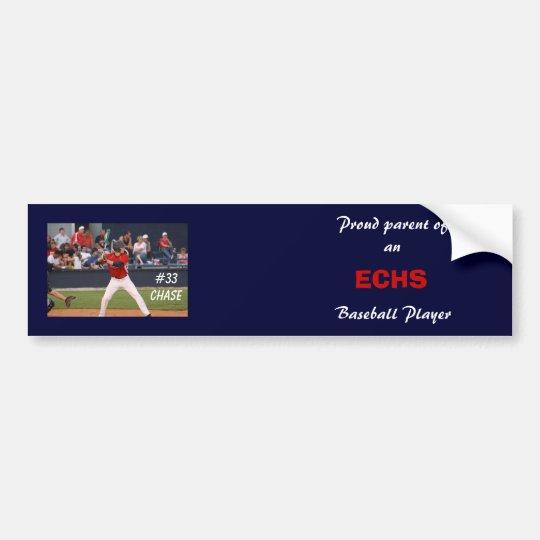 ECHS Baseball Bumper Sticker (personalised)