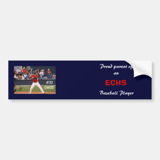 ECHS Baseball Bumper Sticker (personalized)