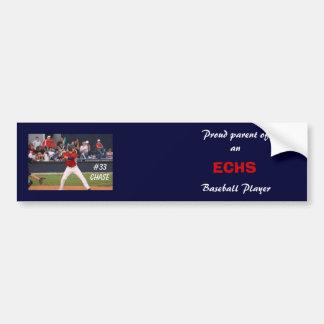 ECHS Baseball Bumper Sticker (personalized)