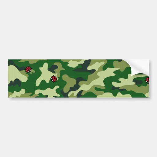 Ecig camouflage bumper stickers
