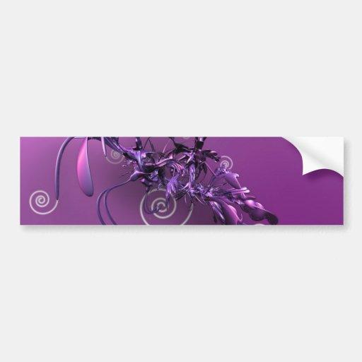 Ecig lilac bumper stickers