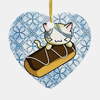 Eclair Kitty Christmas Ornament
