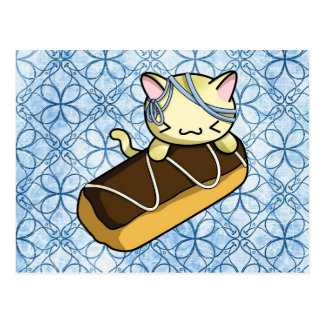 Eclair Kitty Postcard