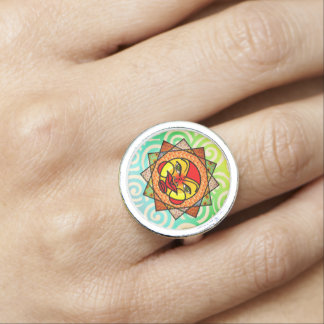 Eclectic Celestial Sun Ring