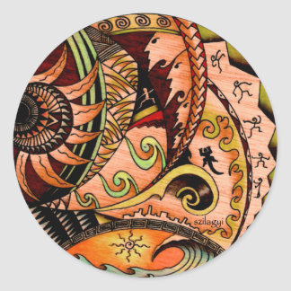 Eclectic Oceania Round Sticker