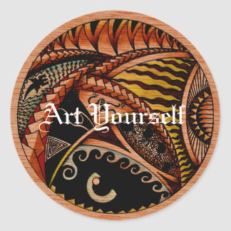 Eclectic Oceania Two Round Sticker