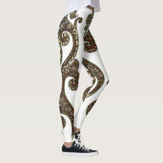 Eclectic Paisley Boho Gems Leggings