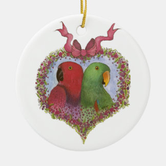 Eclectus by Susie Christian Christmas Ornament