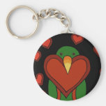 Eclectus Love Key Chains