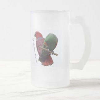 Eclectus Parrot 1 3D Frosted Glass Beer Mug