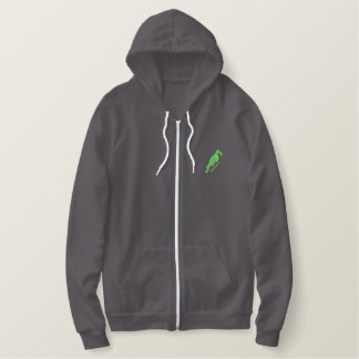 Eclectus Parrot Embroidered Hoodie