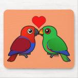 Eclectus Parrots in Love Mouse Mat