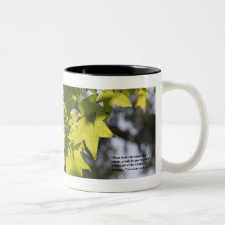 Eclesiastes 3-1 con Hojas Coffee Mugs
