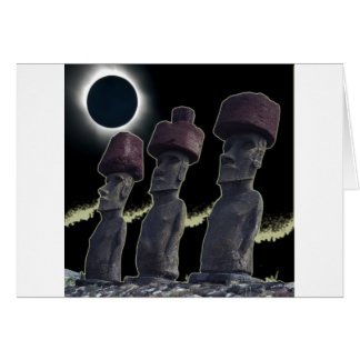 Eclipse 2010 Easter Island Greeting Card