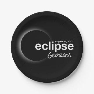 eclipse 2017 Georgia Paper Plate