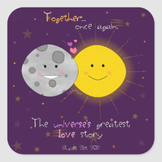 Eclipse 2017 square sticker