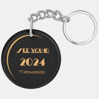 Eclipse 2024 Keychain Texas