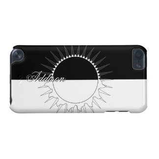 Eclipse Black & White Custom Name Template iPod Touch (5th Generation) Case